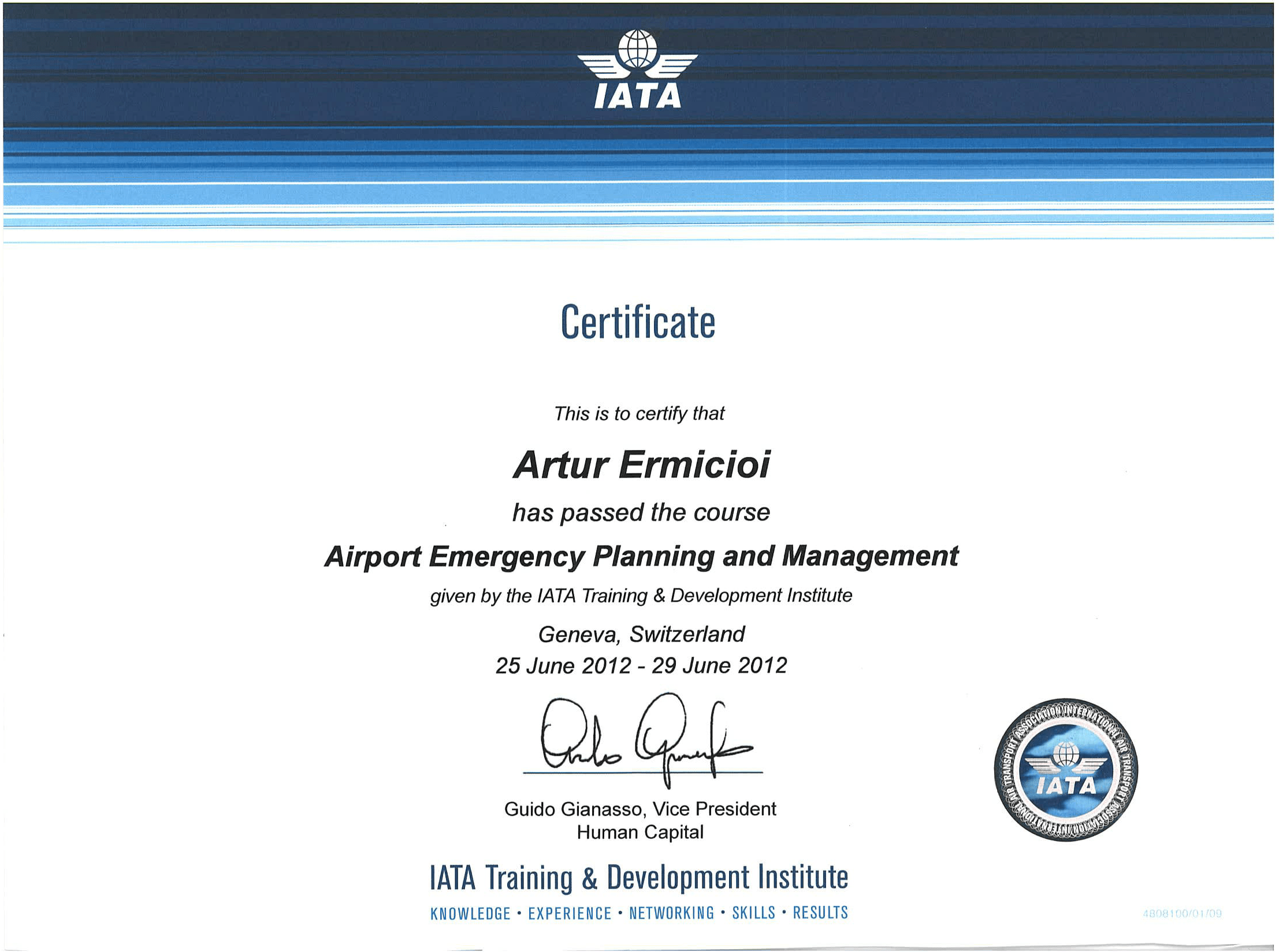 iata training certificates handling trainer practitioners successfully specialists experienced centers completed leading companies european education air